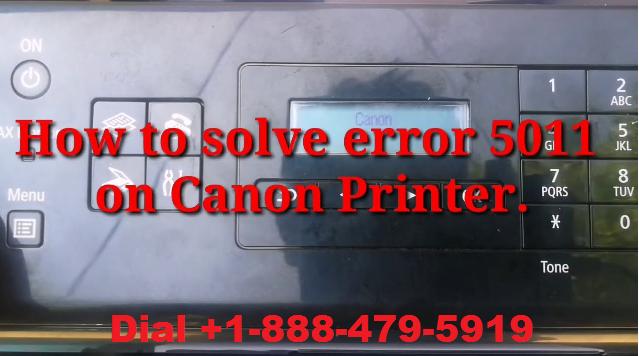 Canon printer error 5011