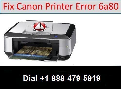 canon printer error 6A80