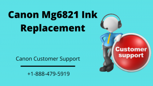 Canon Mg6821 ink replacement