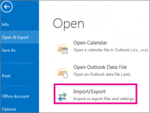 Outlook file