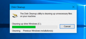 clean the disk