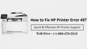 HP Printer error code 49
