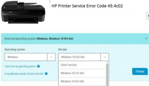 HP Printer Error 49.4c02