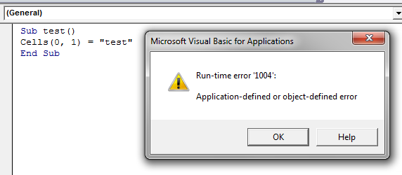 excel runtime error 1004