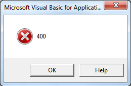 Fix excell error 400