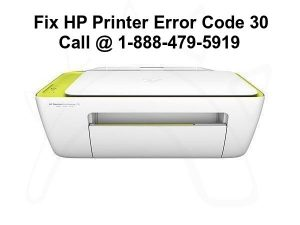 hp printer error code 30