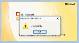 Microsoft Excel Error Stdole32.Tlb