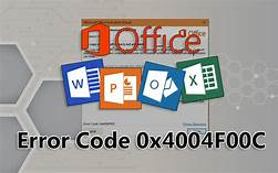 excel error code 0x4004f00c