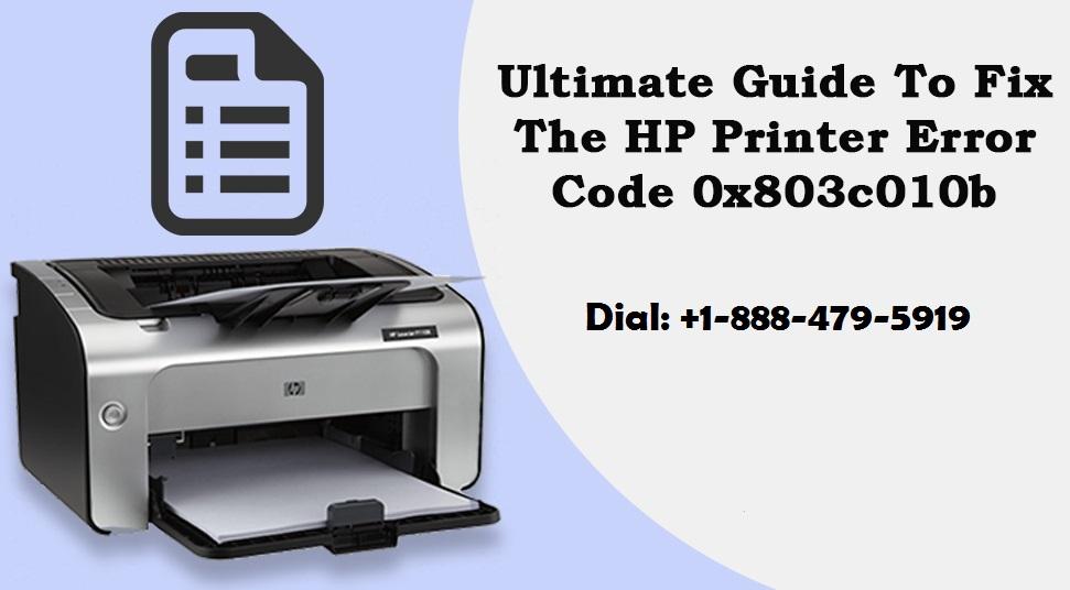 HP Printer Error Code 0x803c010b