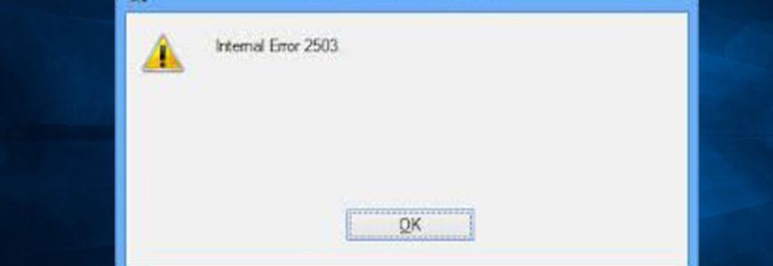 eset error code 2503,