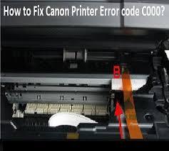 canon printer error c000