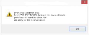 eset error code 2753