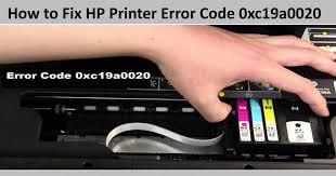 hp printer error 0xc19a0020