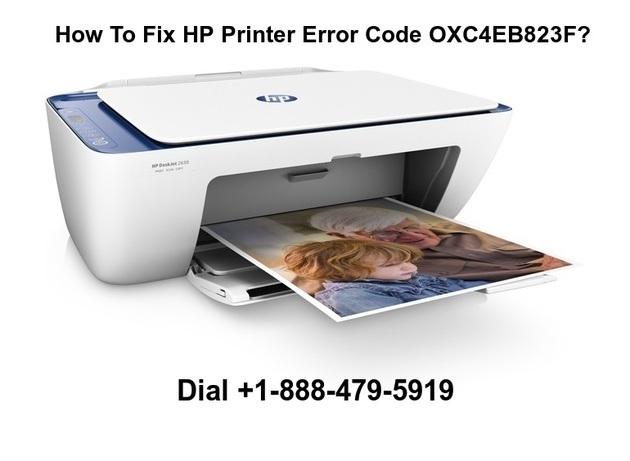 Fix HP Printer Error Code OXC4EB823F