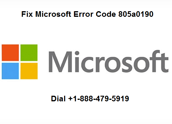 Microsoft error 805a0190