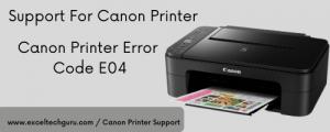 Canon Printer Error code e04