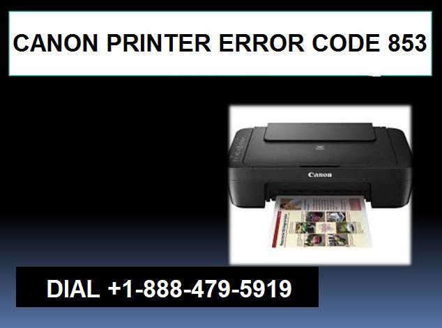 canon printer error 853
