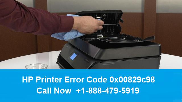HP printer error code 0x00829c98