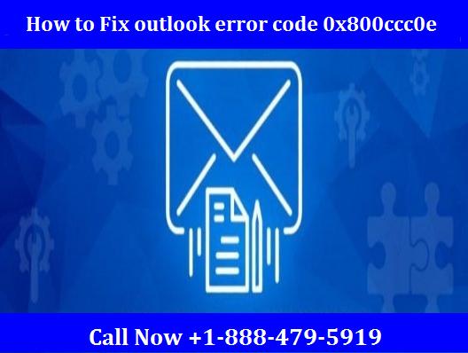 outlook error code 0x800ccc0e