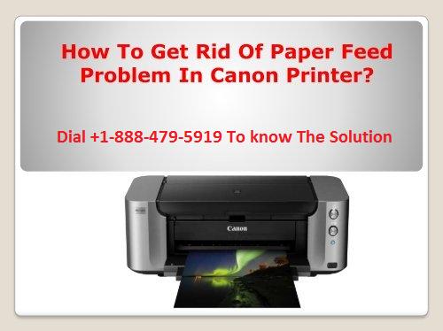 Canon PIXMA Paper Feed Problem