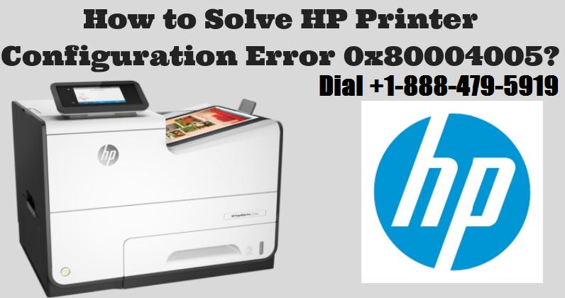 HP Printer Error 0x80004005?