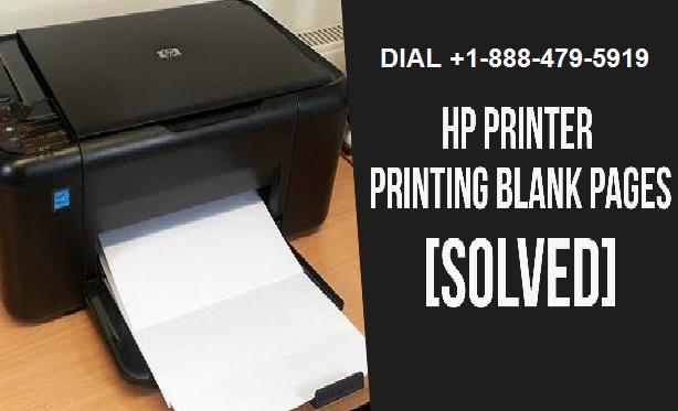HP Printer Printing blank page