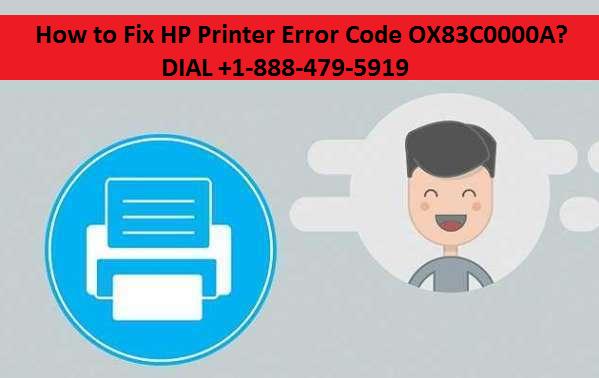 HP Printer Error Code OX83C0000A