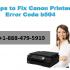 Canon Printer Error b504