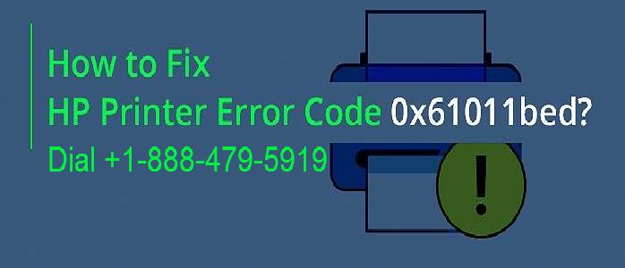 HP Printer Error 0x61011bed