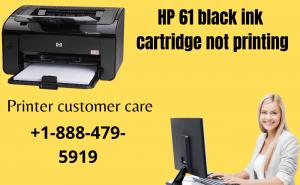 HP 61 black ink cartridge not printing