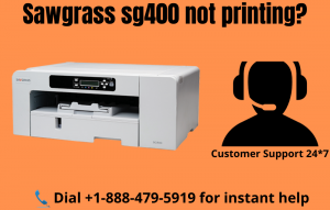 Sawgrass sg400 not printing
