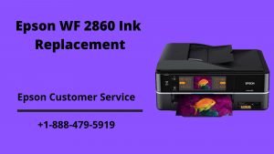 Epson WF 2860 ink replacement