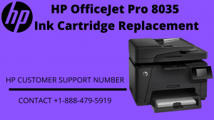 HP OfficeJet Pro 8035 Ink Cartridge Replacement