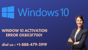 Window 10 Activation Error 0x803f7001.