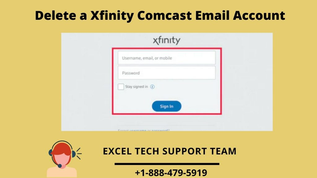 Steps to delete Xfinity Comcast Email Account