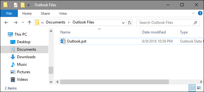 Outlook .pst file