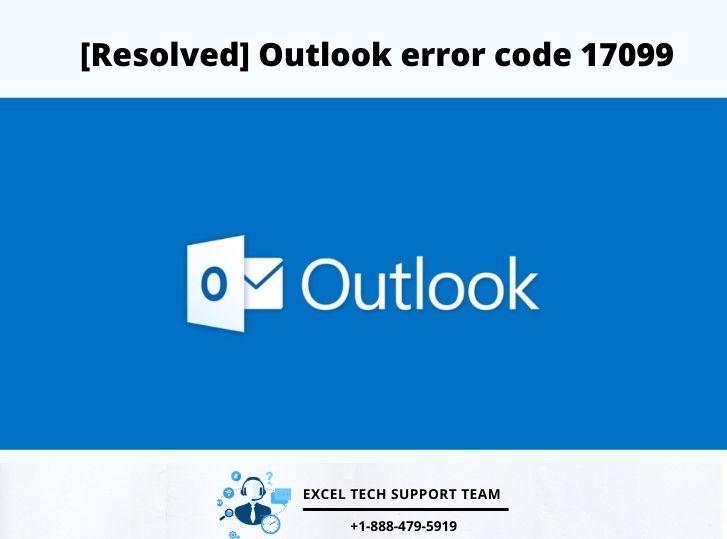 Outlook error code 17099-Exceltechguru