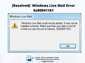 Windows live mail 0x80041161-Exceltechguru
