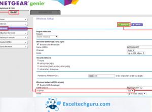 change channels on netgear router-Exceltechguru