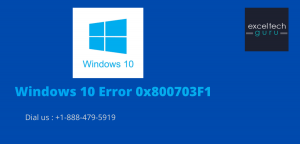 Windows 10 Error 0x800703F1