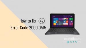 Code error 2000 0415