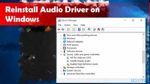 reinstall audio driver