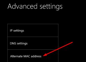 Clearing the alternate MAC address in xbox
