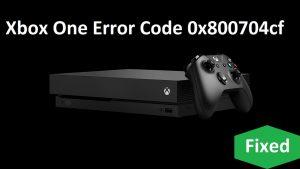 Xbox 0x800704cf error code