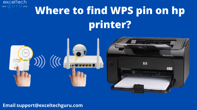 Where to find WPS pin on hp printer?