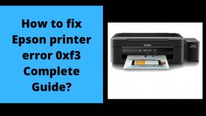 Epson printer error 0xf3