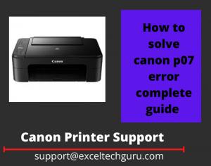 canon p07 error